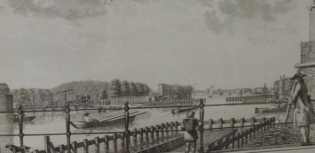 Lange-Houte-Brug, gravure anno 1763 van N. van der Meer